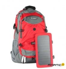 ECEEN Solar Bag 7W Solar Panel Backpack with Battery